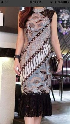 Most Popular dress brokat batik 67 Ideas Trendy Dresses, Nice Dresses, Casual Dresses, Model Dress Batik, Modern Batik Dress, Dress Brokat Modern, Model Kebaya Brokat Modern, Dress Batik Kombinasi, Mode Batik
