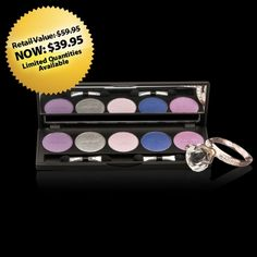 #Motives Plum Pretty: Includes five Pressed Eye Shadows – Breaking Dawn, Twinkle, Heiress, Glamour, and Studio 54. What a great set! ($39.95) www.motivescosmetics.com/fornoelle