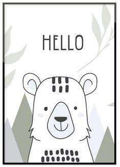 Poster, Hello bear