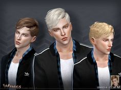 This hair style has 16 kinds of color Found in TSR Category 'Sims 4 Male Hairstyles'