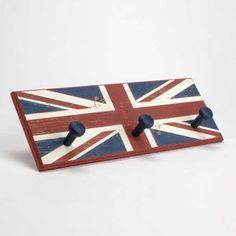who inspired bedroom London Decor, Room London, British Decor, British Style, Union Jack Bedroom, Union Jack Decor, Coat Pegs, Style Anglais, London Souvenirs
