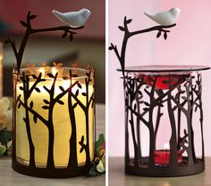 I just got this and LOVE it! Song Bird Fragrance Warmer 2 ways!  A dainty ceramic bird balances on a metal branch bringing a lighthearted touch to any space.