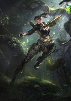 Your Daily Dose of Tomb Raider! Character Concept, Character Art, Concept Art, Character Portraits, Fantasy Warrior, Fantasy Girl, Final Fantasy, Fantasy Characters, Female Characters