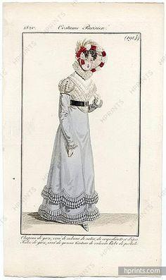 Le Journal des Dames et des Modes 1820 Costume Parisien N°1914