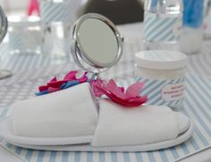 Amazing ideas for a little girl's spa themed party.