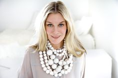 White necklaces by Aarikka