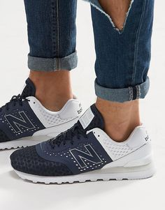 New+Balance+574+Trainers+In+Blue+MTL574MN