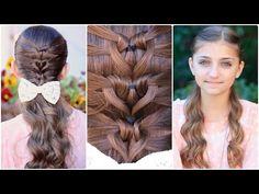 ▶ Mermaid Heart Braid | Valentine's Day Hairstyles - YouTube