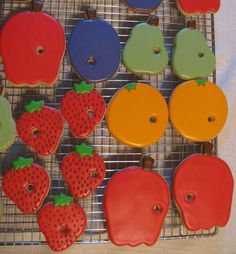 These cookies would make great favors for a The Very Hungry Caterpillar birthday party!