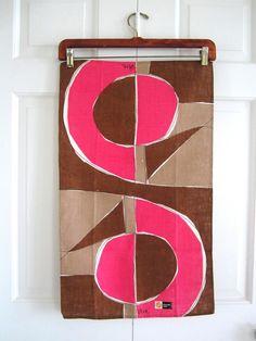 Vintage VERA Towel Mod ABSTRACT Design at NeatoKeen on Etsy