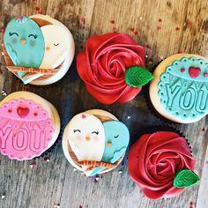Valentine's cupcakes Love birds
