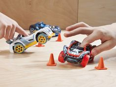 These finger power cars, discovered by The Grommet, are the ultimate toy car with sleek design, working suspension, and responsive steering.