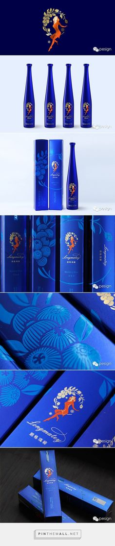 Longemater logo & packaging on Behance by Peng Chong curated by Packaging Diva PD. Another beautiful pin from this designer. Look at the colors and the detail.