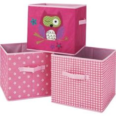Buy Canvas Storage Boxes - Pink at Argos.co.uk - Your Online Shop  sc 1 st  Pinterest & 28 best Childrens bedroom images on Pinterest   Child room Play ...