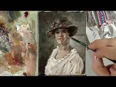 Portrait painting in oil