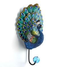 Peacock Wall Hook | Kirklands