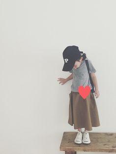 keemiiiiiスカート「Danton <15秋冬>【LE GLAZIK(ル グラジック)】キッズ ギャザーフレアースカート」Styling looks