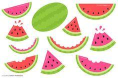 Sandía fruta melón verano lindo Clipart Clip Art uso