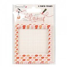 50 Heart Shaped Adhesive Sticky Pearls Dovecraft KISS /& MAKE UP Red Pink Pearl