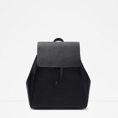 ZARA - WOMAN - BACKPACK WITH FOLDOVER FLAP