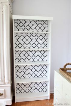 LOVE LOVE LOVE this idea!!!! Wrap a piece of cardboard in fabric and put at back of bookcase instead of painting or wallpaper. Could change out as often as you wanted.