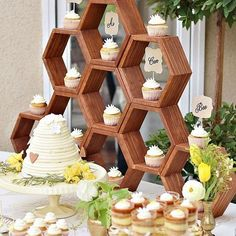 A gorgeous 'Mother Bee' themed baby shower spread! What a great idea for an expecting mother that you may know...