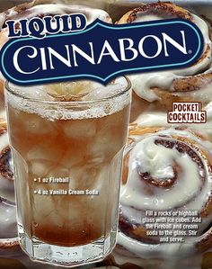 Millions of People Enjoy Pocket Cocktails. Check out our World Famous Drink Posters. Mixed Drinks Alcohol, Alcohol Drink Recipes, Cinnabon, Cocktails, Cocktail Drinks, Sangria Drink, Cocktail Recipes, Fireball And Cream Soda, Famous Drinks