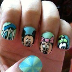 Peek-a-boo Disney Nail Art!