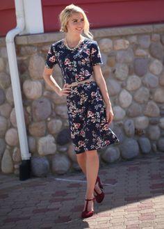 Haven Navy Floral Dress