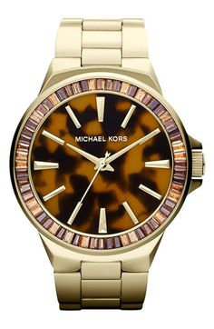 Can I has it? Love/obsessed. Michael Kors 'Gramercy' Round Bracelet Watch | Nordstrom