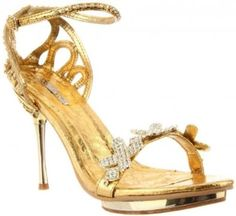 £37.99  Shoehorne Joyce-07 - Womens Gold Rhinestone X Encrusted front Diamante Covered Ankle Strap Stiletto High Heels Evening Sandals - Avail in Ladies Shoe Size 3-8 UK: Amazon.co.uk: Shoes & Accessories