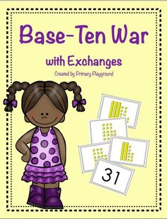 A place value game for 1st and 2nd graders - students count and compare base ten blocks; also includes practice pages