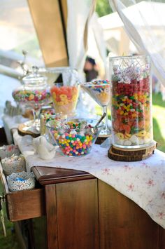 Shabby Chic Wedding Candy Buffet