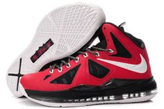 Nike Air Zoom Lebron X Men Sports Shoes - Black and Red and White