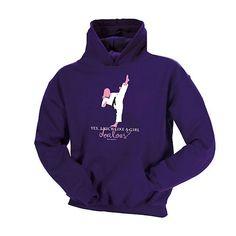 Kick Like A Girl Hoodie Purple