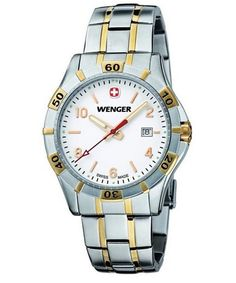 #Wenger Mens 0941.105 Platoon Stainless Steel Watch on sale @ overstock.com! http://www.overstock.com/10759362/product.html?CID=245307
