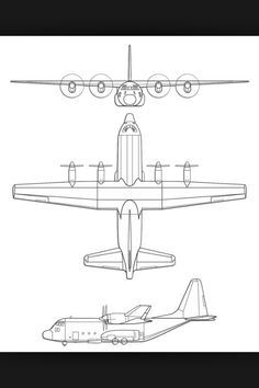 C-130 Tattoo Idea. Have the outline colored in black.