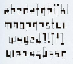 Rietveld: Interpreted as a font | the mehallo blog. beta.