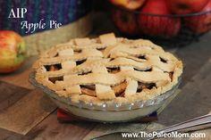 Paleo and gluten free Apple Pie with AIP options, perfect for all your family holidays, from Fourth of July to Thanksgiving and Christmas! | www.ThePaleoMom.com
