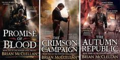 """The Powder Mage books are a little different from the other books on this list because they're set in a more modern """"Bulletpunk"""" setting, where swords and sorcery are replaced with guns and epaulettes. Even the magic system in the books involves consuming gunpowder in order to access inert abilities. There's a lot happening in this trilogy, from gun battles with gods to good, old-fashioned policework, so there should be a little something for everyone."""