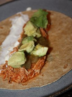 Slow Cooker Chipotle Chicken Tacos by kissmywhisk, via Flickr
