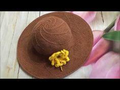 Crochet Summer Hats, Crochet Hats, Crochet Hooded Scarf, Crochet Borders, Brooches Handmade, Crochet Videos, Baby Knitting Patterns, Hats For Women, Cross Stitch Patterns
