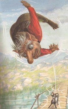 The Three Billy Goats Gruff - he eldest billy goat butts the troll..