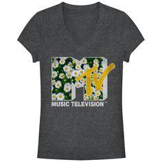 MTV Junior's - Daisy Logo V Neck #mtv