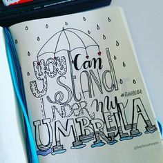Umbrella • handlettering by @Barbrusheson