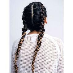 Ombré braids #braids #plaits #plait #braid #Kardashian #dutchbraid #ombre #dipdye #creative #creativecolour #hairstyle #hairinspo #hairgoals #style #ontrend #hairtrend #brunette #blonde #london #inspo #mood #rockpamperscissors by rockpamperscissors