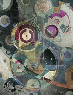 Concentric Circle abstract art