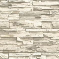 RMK9026WP Natural Stacked Stone Peel and Stick Wall Decor Grey