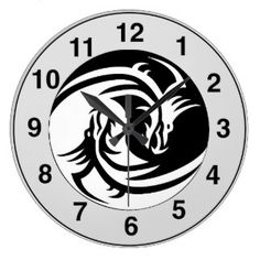 Dragon Tattoo Clocks & Dragon Tattoo Wall Clock Designs   Zazzle