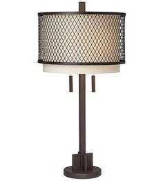 Pacific Coast 87-7029-68 Industrial Double 32 inch 120 watt Poly Dark Rust Table Lamp Portable Light photo